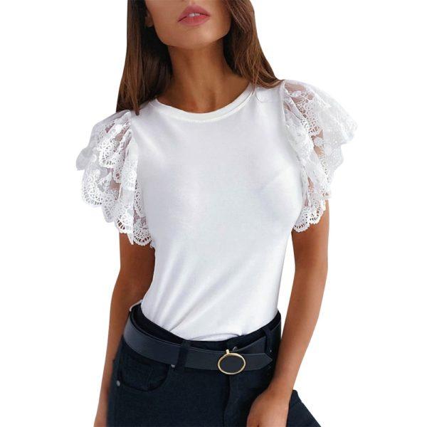Dámské elegantní triko s krajkovými rukávy Alice