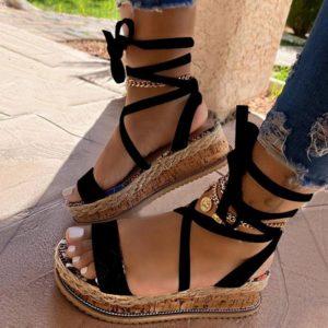 Dámské sandály na platformě Sayra