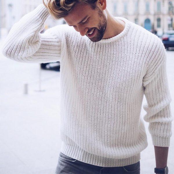 Pánský módní pletený svetr Rocco