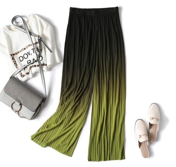 Dámské plisované široké kalhoty Meredith