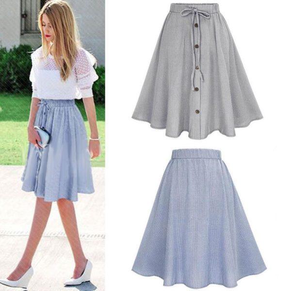 Dámská propínací sukně s vysokým pasem Bernice