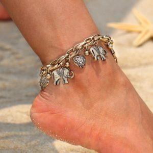 Stylový náramek na nohu