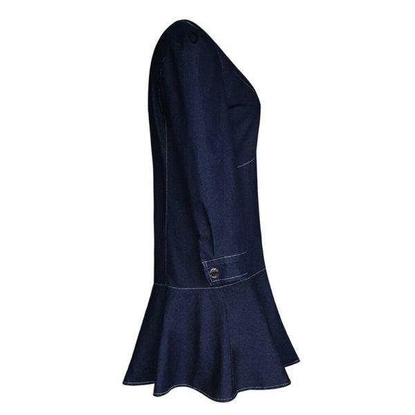 Dámské džínové sexy šaty s volánkem Priscila