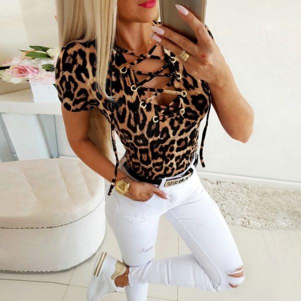 Dámské leopardí tričko Camryn