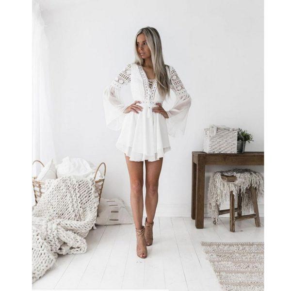 Dámské bílé boho šaty Kenedy