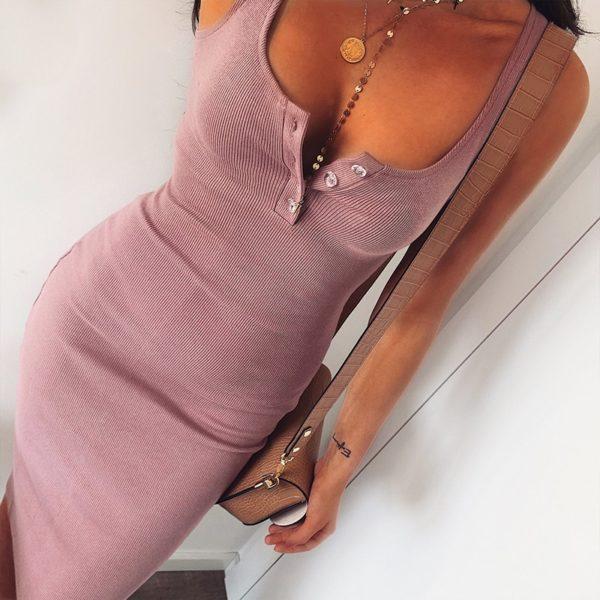 Dámské sexy šaty s knoflíky Katrina