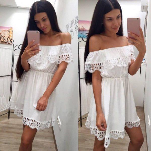 Dámské letní šaty s krajkou Alisa