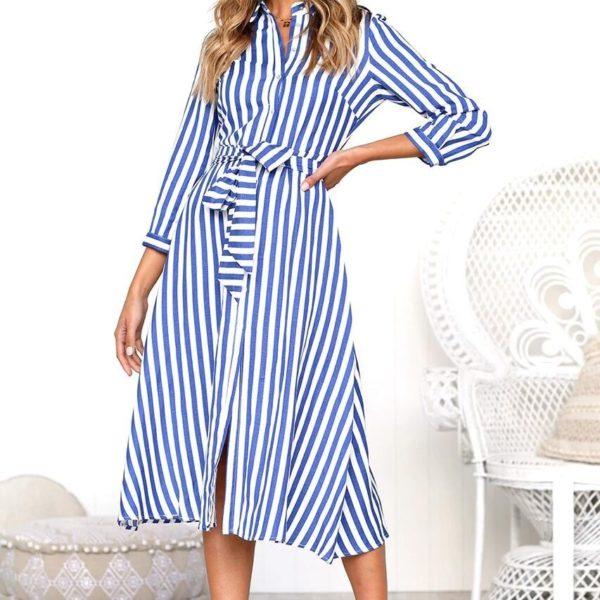 Dámské elegantní košilové šaty