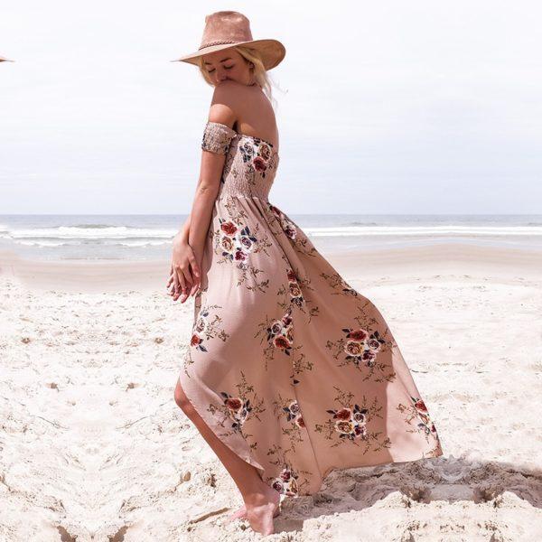 Dámské dlouhé květinové šaty Meghan
