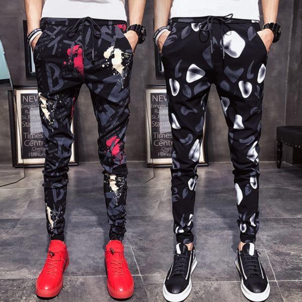 Pánské volnočasové slim fit kalhoty Jaydon
