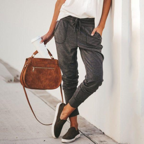 Dámské ležérní volnočasové kalhoty Nefrit - kolekce 2020