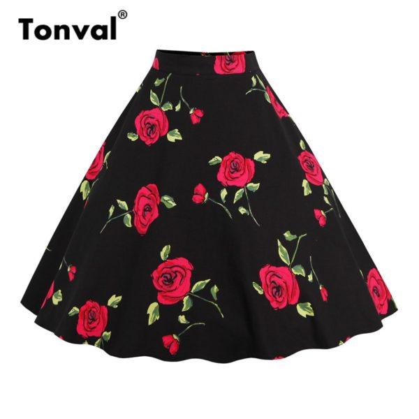 Dámská stylová vintage sukně s potiskem Genie