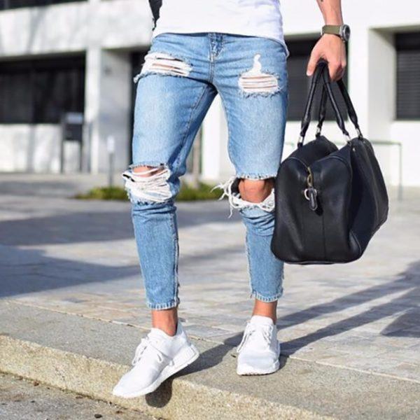 Pánské skinny džíny Ripped
