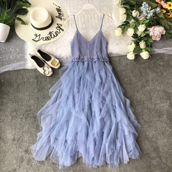 Dámské dlouhé elegantní šaty s tylovou sukní