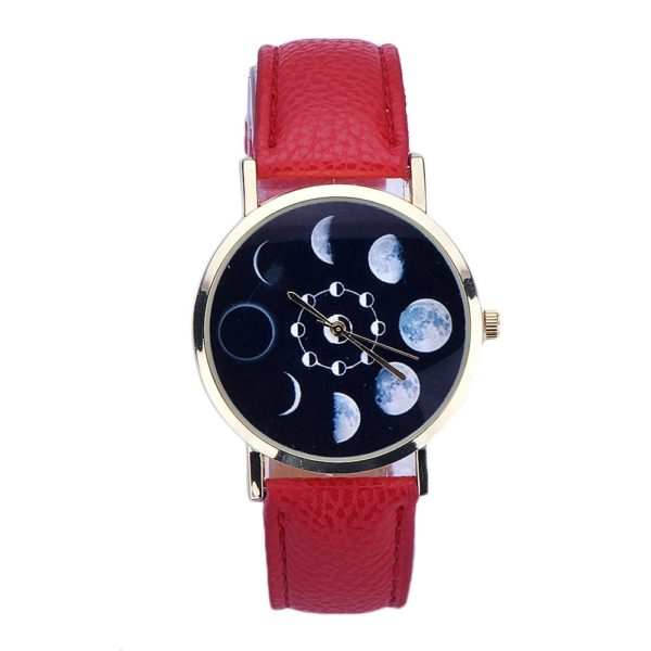 Dámské stylové hodinky Fáze měsíce