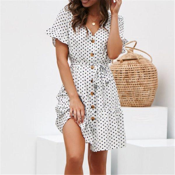 Dámské šaty s knoflíky Sanai