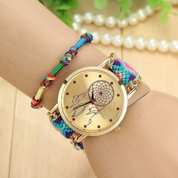 Pletené indiánské hodinky