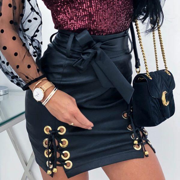 Dámská koženková sukně Lyana