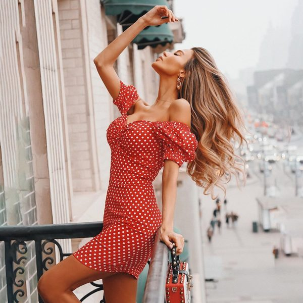 Dámské letní puntikaté šaty Evelin