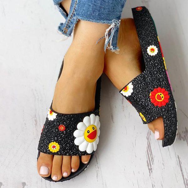 Dámské luxusní pantofle Flower