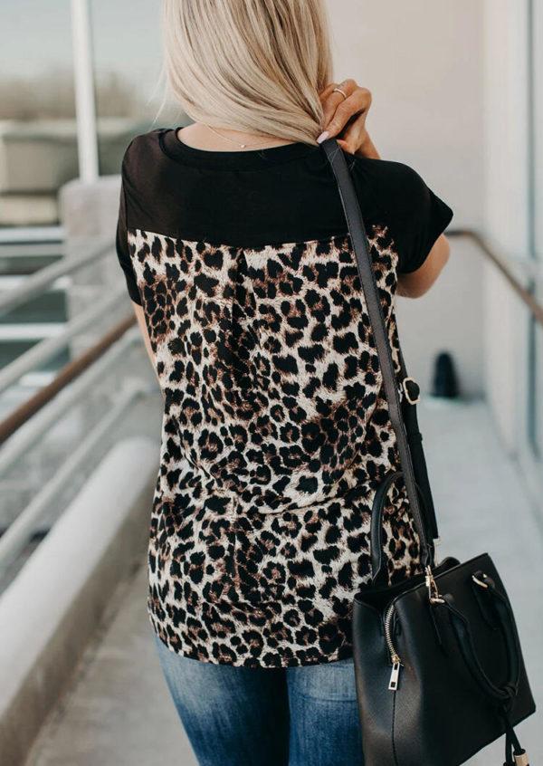 Dámské leopardí tričko Aryana