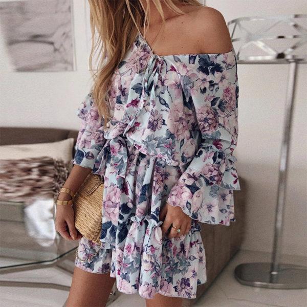 Dámské květované boho šaty Anneliese