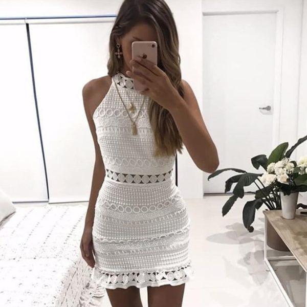 Dámské krajkované letní šaty Clara