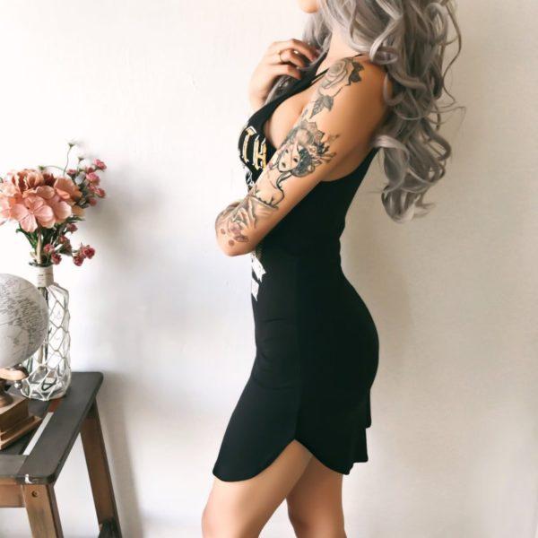 Dámské sexy minišaty s potiskem Rachael
