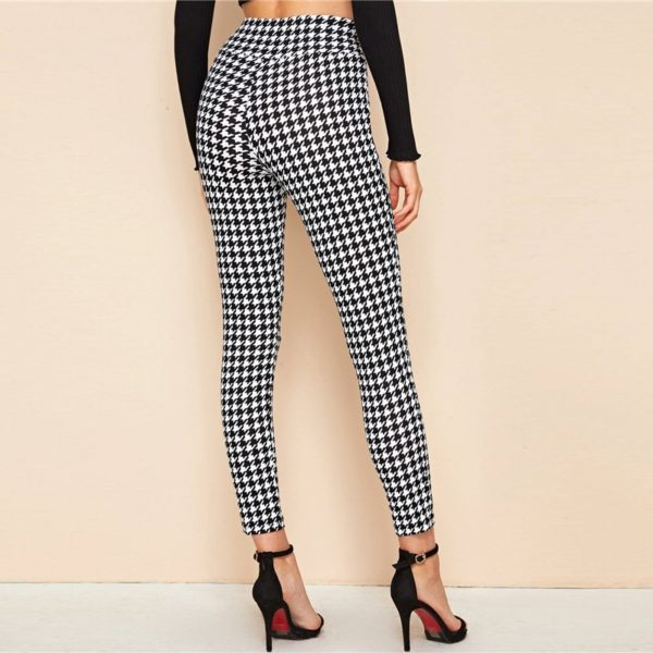 Dámské elegantní kalhoty s vysokým pasem