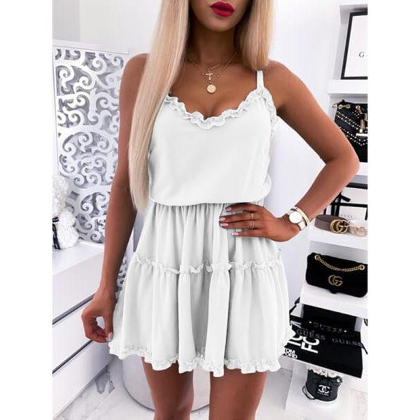 Dámské letní jednobarevné šaty Nicole