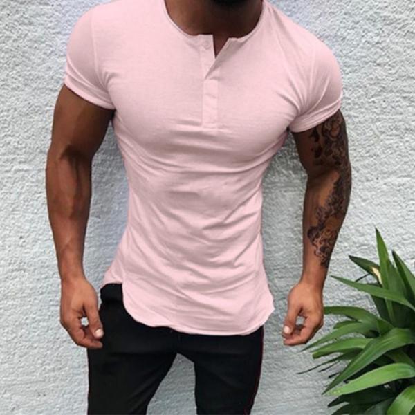 Pánské ležérní tričko na knoflíčky Dominik