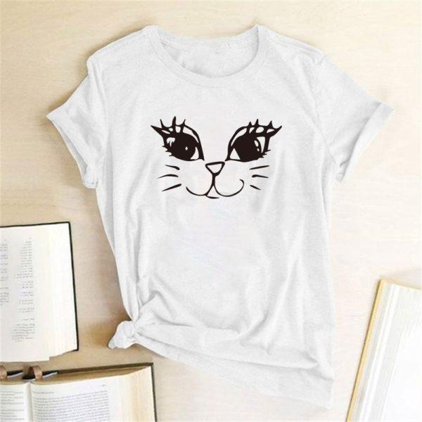 Dámské moderní triko Cat Face