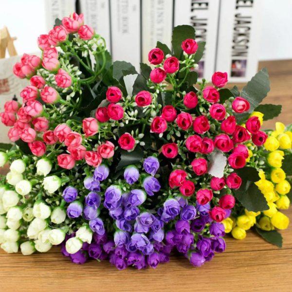 Krásné úmělé růžičky Rose