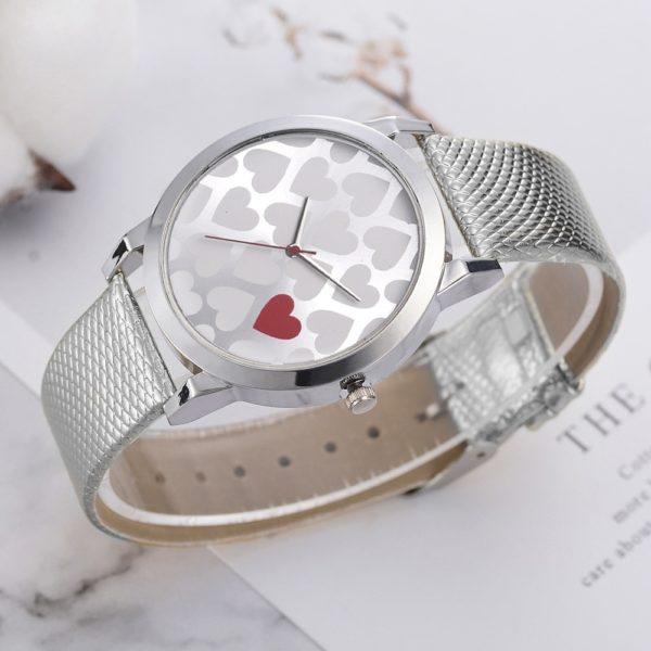 Dámské elegantní ocelové hodinky Heart