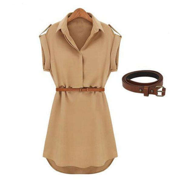 Dámské ležérní košilové šaty s páskem Daniella