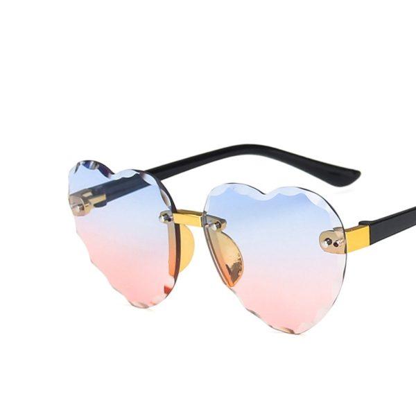 Dívčí módní sluneční brýle Heart