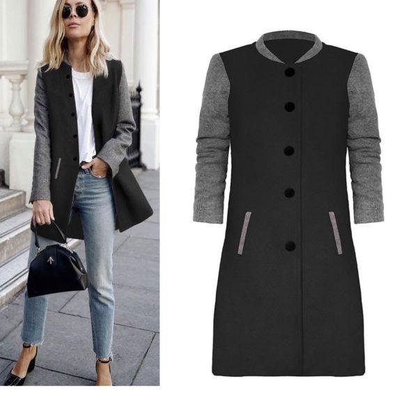 Dámský luxusní podzimní kabát Heather