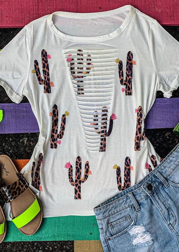 Dámské trendy triko s průstřihy Skylar