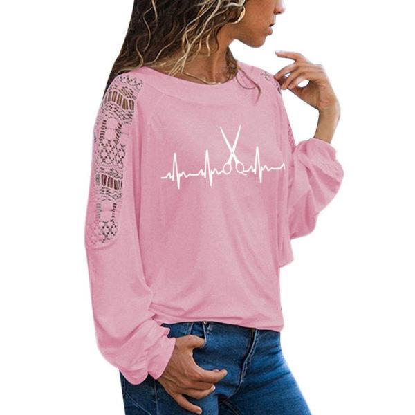 Dámské elegantní triko s krajkou Hearth