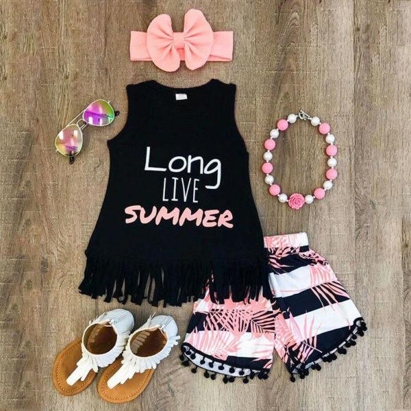Dívčí letní módní souprava s třásněmi Rosie