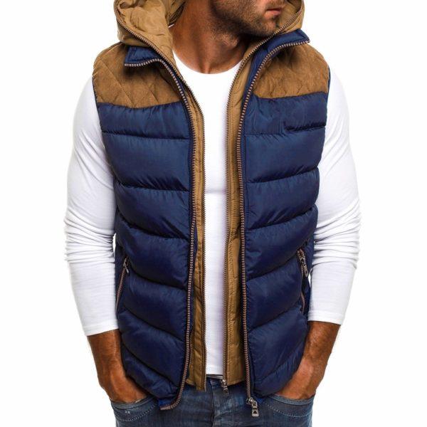 Pánská zimní vesta s kapucí Ashton