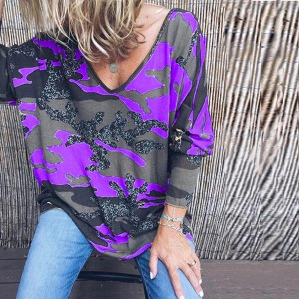 Dámské triko s netopýřími rukávy Kailey