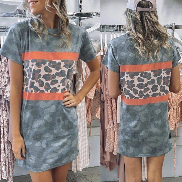 Dámské leopardí šaty Lesly