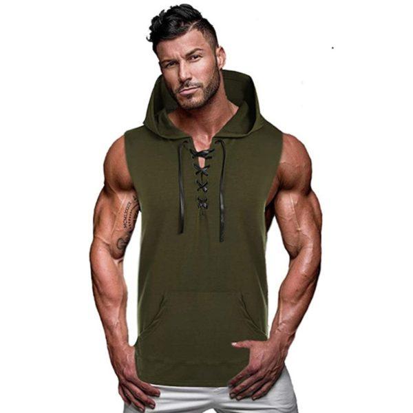 Pánské fitness triko s kapucí Colby - kolekce 2020