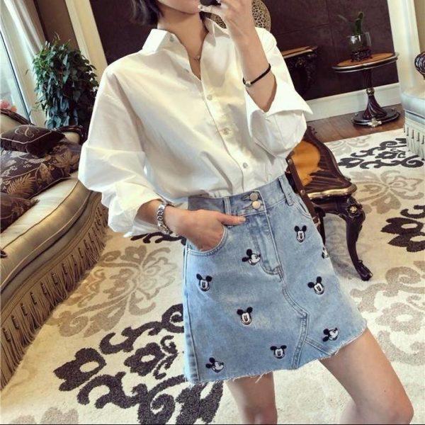 Dámská riflová stylová sukně