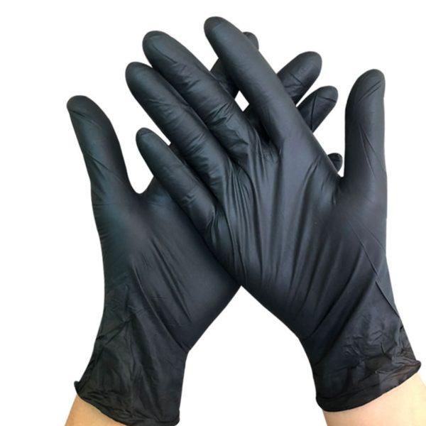 Jednorázové černé rukavice 100 ks