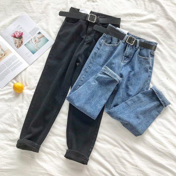 Dámské stylové džíny s páskem Gemma