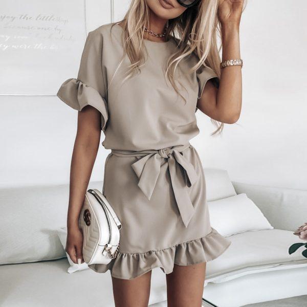 Dámské atraktivní šaty s páskem Janetta