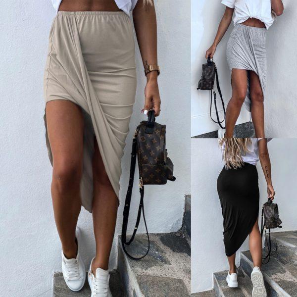 Dámská ležérní asymetrická sukně Lisa - kolekce 2020