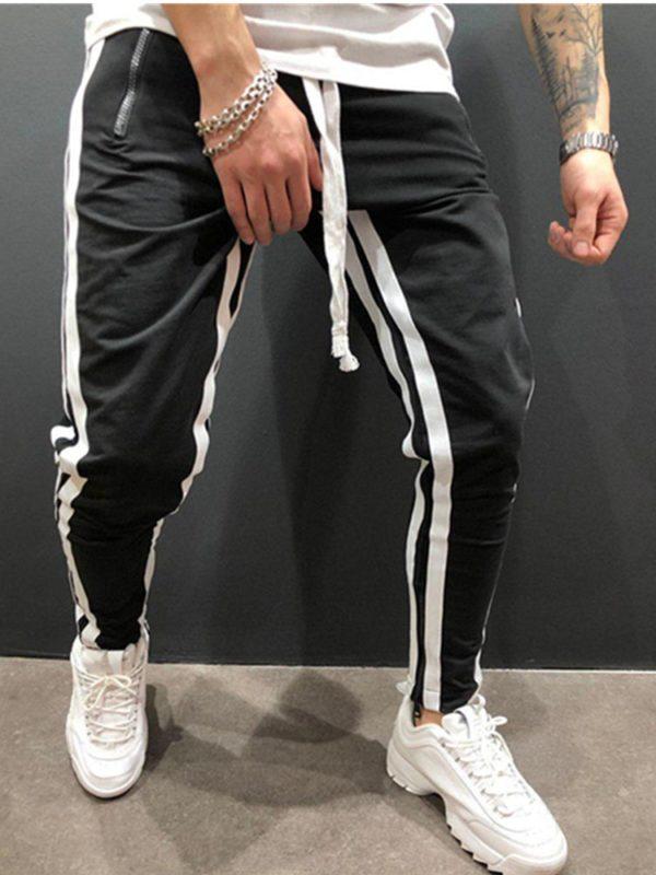 Pánské volnočasové kalhoty s pruhy Marcelo